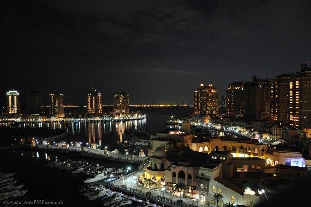 Rain in Doha at Night
