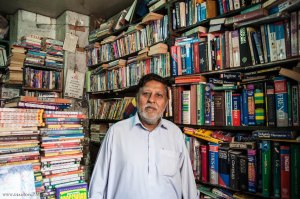 The Book Waala... the owner of one of the oldest book stalls in Karachi